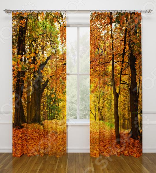 Фотошторы Стильный дом «Осенний листопад»