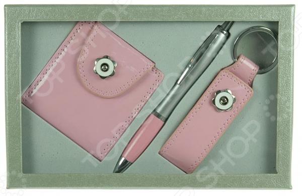 Набор подарочный: зеркало, ручка и брелок 140305