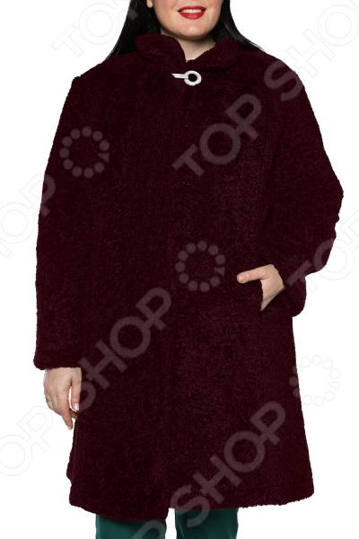 Пальто ТРЕНД «Скарлетт». Цвет: бордовый блуза тренд радужный блеск цвет бордовый