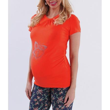 Купить Футболка для беременных Nuova Vita 1215.09. Цвет: оранжевый