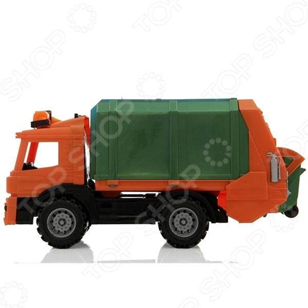 Машинка игрушечная Нордпласт «Мусоровоз» 06492 нордпласт нордпласт мусоровоз цвет в ассортименте