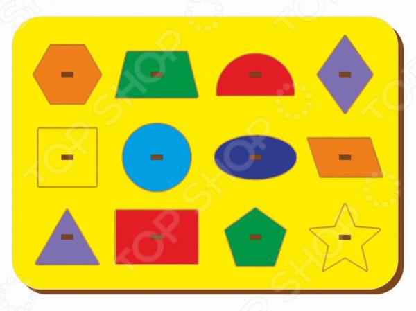 Игра развивающая WoodLand «Рамка-вкладыш: Монтессори геометрия 1» игра развивающая woodland рамка вкладыш барбоскины 1