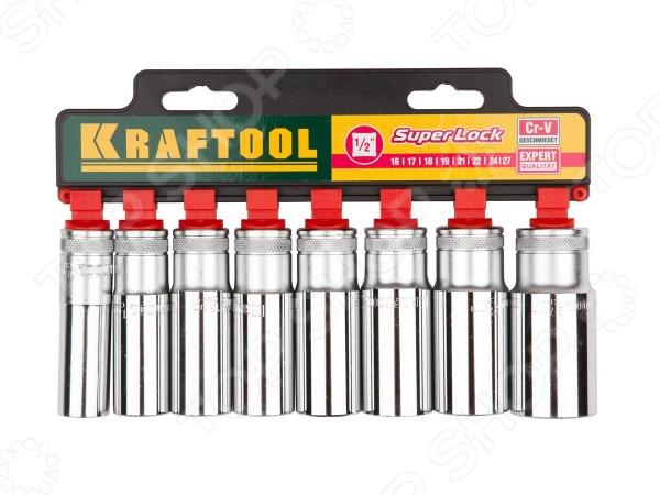 Набор торцевых головок Kraftool Expert Qualitat 27865-H8_z01 набор торцевых головок kraftool 1 2 1 4 3 8 108шт expert qualitat 27888 h108 z02