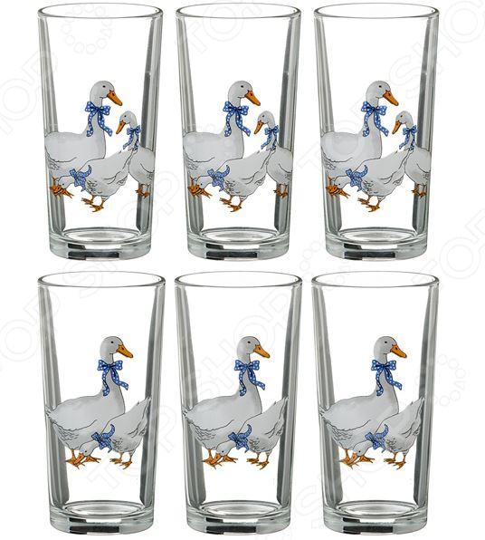 Набор стаканов «Гуси» 484-198