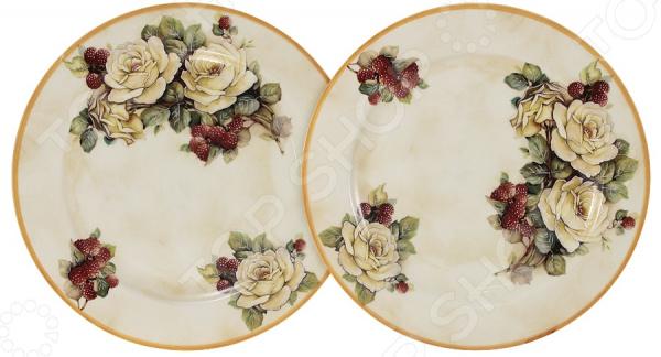 Набор десертных тарелок LCS «Роза и малина»