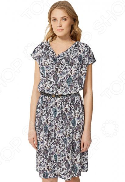 Платье Finn Flare S16-12036. Цвет: черный