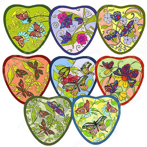Прихватка Мультидом «Сердце: Бабочки» L22-179. В ассортименте прихватка мультидом лето l22 17 в ассортименте