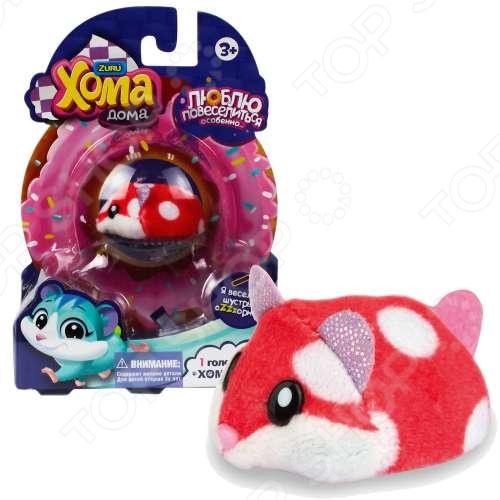 Мягкая игрушка 1 Toy «Хомячок красный в горошек»