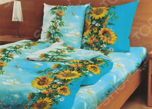Комплект постельного белья Fiorelly «Цветок солнца» одежда для сна