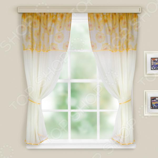 Комплект легких штор WITERRA «Кристалл». Цвет: желтый. В ассортименте
