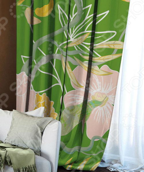 Домашний текстиль, в частности, шторы и гардины важная составляющая любого интерьера, ведь именно они делают помещение более уютным. Но как и любой другой элемент декора, шторы способны как подчеркнуть положительные стороны выбранного стиля интерьера, так и нарушить сложившуюся стилистическую и визуальную гармонию в вашем доме. С умом подобранные шторы способны преобразить вашу комнату, сделать её более светлой или уединенной, яркой или более спокойной, визуально больше или уютней. Обновить интерьер теперь просто! Штора блэкаут Волшебная ночь Summer Fantasy это идеальный вариант для вашей гостиной, спальни, гостевой. Прочная, плотная и качественная штора не только стильно оформит оконное пространство, но и позволит правильно расставить акценты в интерьере, скрыть небольшие недостатки в отделке. Особенность данной модели заключается в стильном, современном принте с цветочными мотивами и насыщенной цветовой гамме. Такие шторы одинаково понравится ценителям классики и тем, кто следит за модными тенденциями!  Главная особенность и достоинство этой шторы заключается в материале, из которого она выполнена. Блэкаут это плотная, прочная и удивительно износостойкая ткань, которая обладает рядом достоинств:  светонепроницаемая, поэтому вы сможете легко регулировать степень освещенности в комнате;  этот приятный на ощупь материал прост в уходе, устойчив к загрязнениям и хорошо сохраняет тепло;  сохраняет свой первоначальный внешний вид после многочисленных стирок, не линяя и не теряя насыщенность, яркость цветов;  не накапливает статического электричества, поэтому не притягивает пыль.  за счет многослойной структуры надежно защищает от сквозняков.  Четыре ткани, четыре стиля, четыре степени Штора блэкаут Волшебная ночь Summer Fantasy легко сочетается с другими изделиями из коллекции Волшебная ночь . Вы сможете дополнить и подобрать свою идеальную композицию, используя шторы из других тканей: сатена, габардина или вуали. Каждый тип ткани имеет свою степень светонепроницаемости 