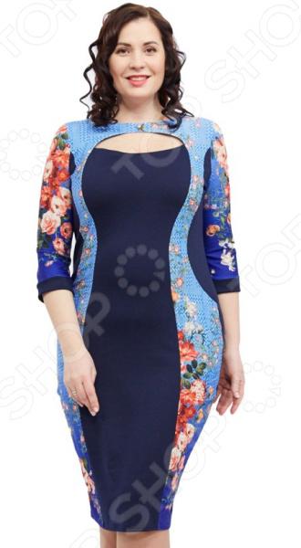 Платье Матекс «Галка». Цвет: васильковый  туника матекс донна цвет васильковый