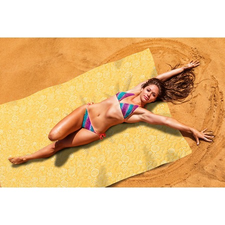 Купить Покрывало пляжное Сирень «Желтый коралл»