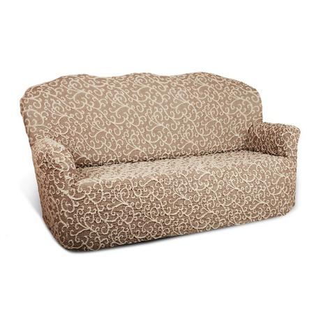 Купить Натяжной чехол на трехместный диван Еврочехол «Жаккард. Волны»
