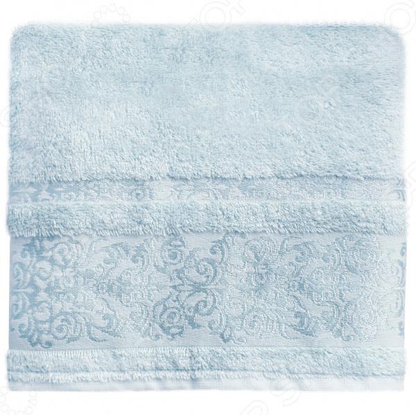 Полотенце банное BONITA «Дамаск». Цвет: голубой