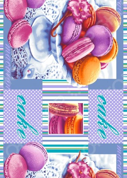 Полотенце кухонное вафельное ТексДизайн «Сладкая жизнь». В ассортименте