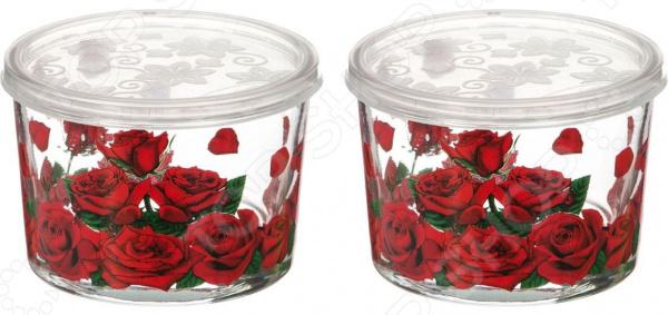 Набор банок для сыпучих продуктов «Розарий» 484-305