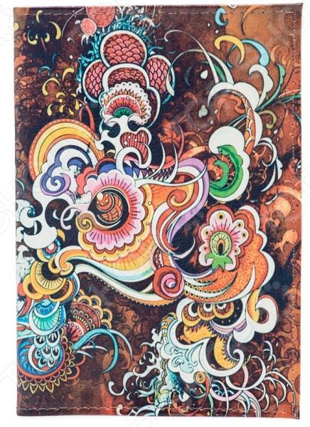 Обложка для паспорта кожаная Mitya Veselkov «Инди-стайл» обложка для паспорта mitya veselkov котик под деревом