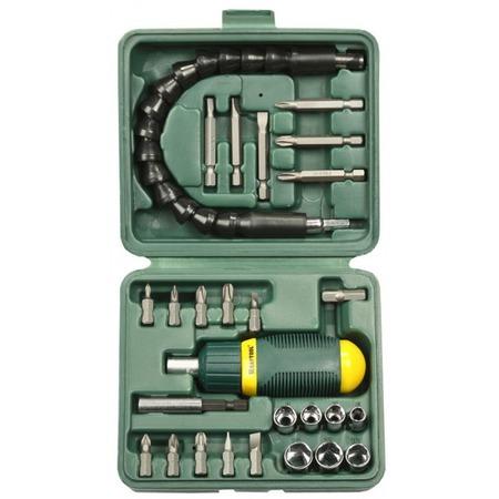 Купить Отвертка реверсивная с битами и торцевыми головками Kraftool 25556-H27