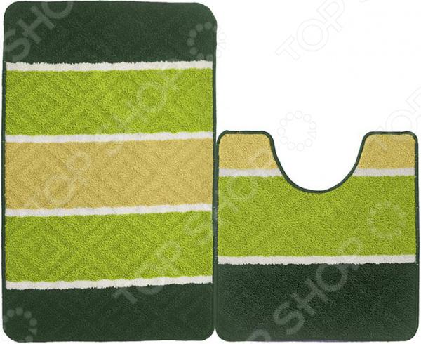 Набор ковриков для ванной комнаты Kamalak textil УКВ-1052
