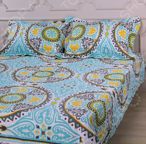 Комплект для спальни: покрывало и наволочки Santalino 806-008 для спальни