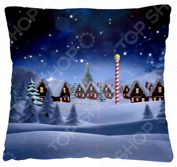 Подушка декоративная Волшебная ночь «Зимний вечер»