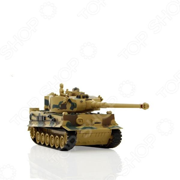 Танк на радиоуправлении Пламенный Мотор TIGER (Германия) танк на радиоуправлении пламенный мотор tiger германия 1 28 пластик от 4 лет камуфляж 87553