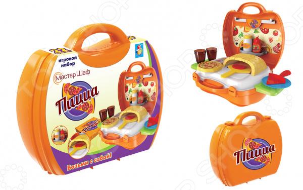 Игровой набор для ребенка 1 Toy в чемоданчике «Мастер-Шеф: Пицца»