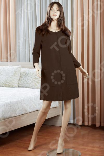 Платье домашнее Primavelle Susanna. Цвет: темно-коричневый цена 2017