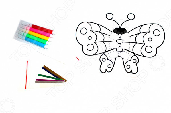 Раскраска надувная Bradex «Бабочка» раскраски bradex раскраска надувная скорпион