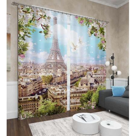 Купить Фотошторы Сирень «Парижское небо»