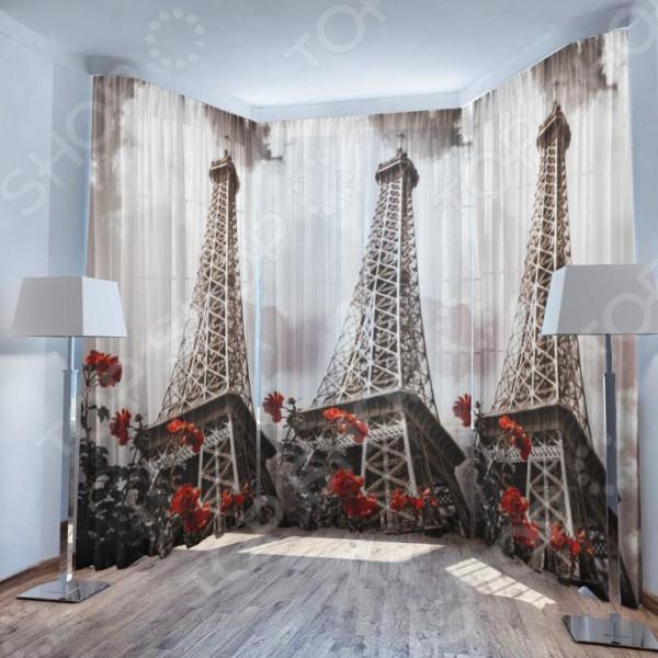 Фототюль ТамиТекс «Эйфелева башня» фототюль тамитекс хрусталь