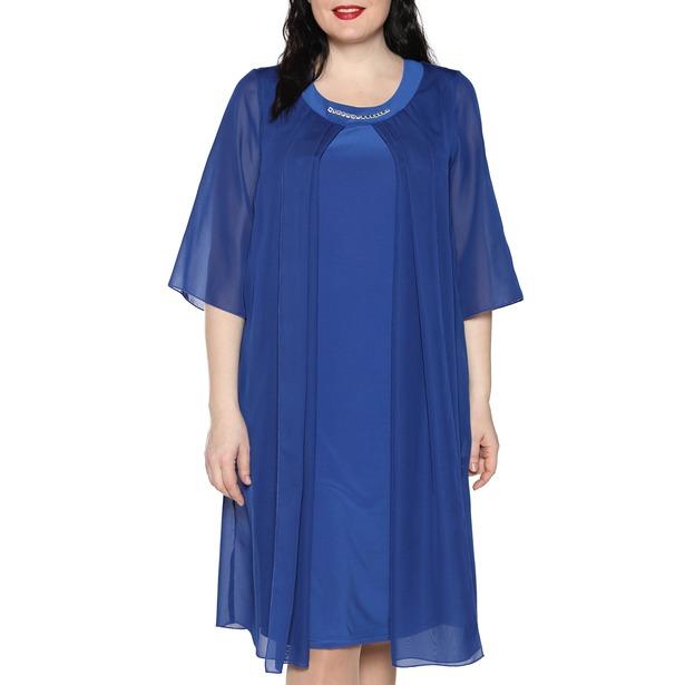 фото Платье Лауме-Лайн «Звездное настроение». Цвет: васильковый. Размер одежды: 50-52