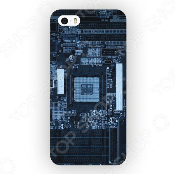 Чехол для iPhone 5 Mitya Veselkov «Микросхема Темная» mitya veselkov тюльпановый принт чехол для apple iphone 5 5s