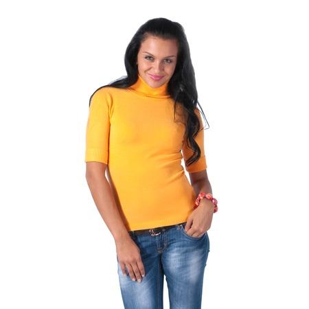 Купить Свитер Mondigo 9003. Цвет: оранжевый