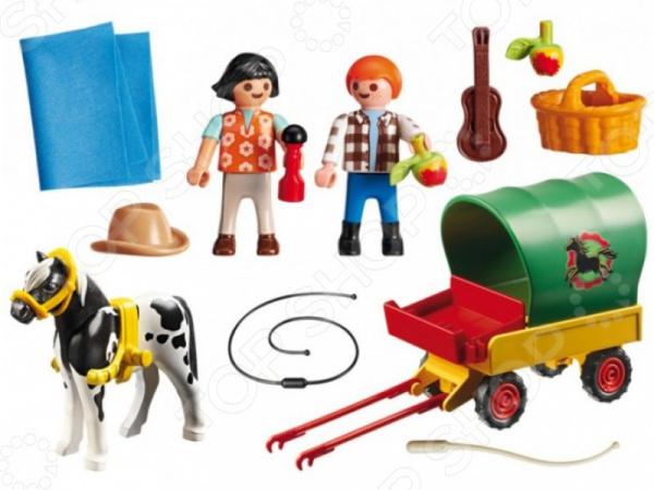 Игровой набор Playmobil «Ферма Пони: Пикник с коневозкой» playmobil спасатели с носилками