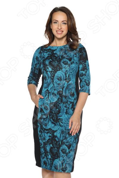 Платье VEAS «Леди Роза». Цвет: бирюзовый
