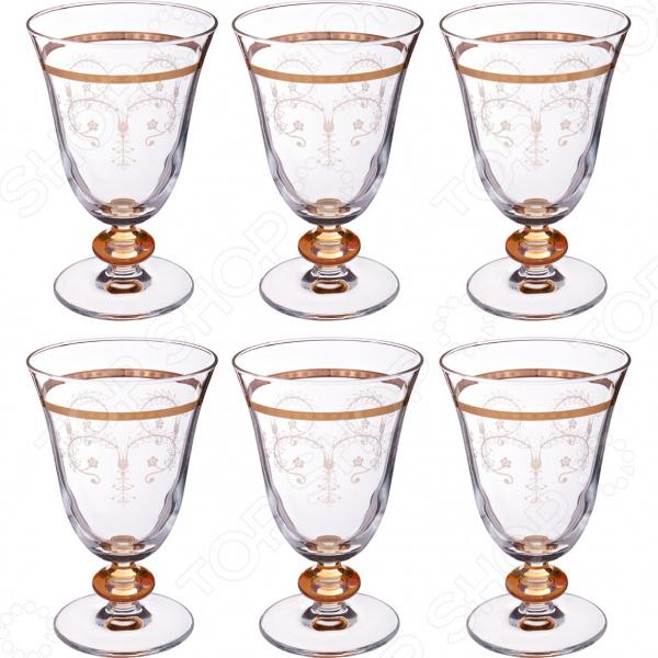 Набор бокалов для вина ART DECOR «Итальяно» 326-028 набор бокалов crystalex джина б декора 6шт 210мл шампанское стекло