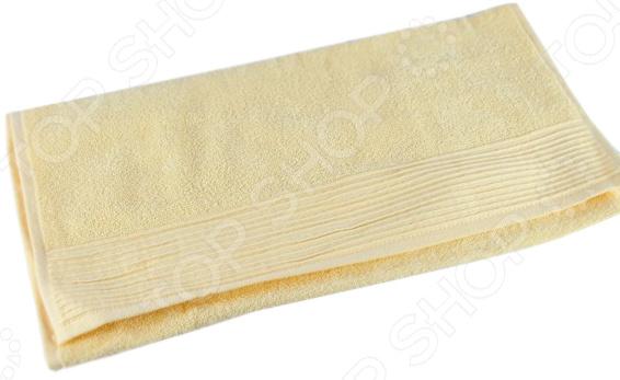 Полотенце махровое Aquarelle «Палитра». Цвет: светло-желтый