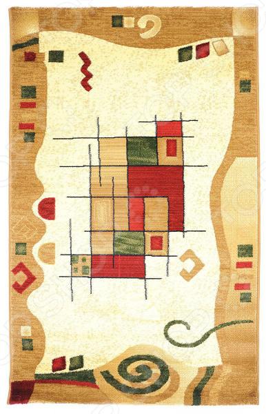 Ковер прямоугольный Kamalak tekstil «Геометрический». Цвет: бежевый
