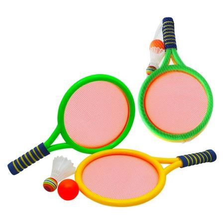 Купить Набор: теннисные ракетки, мяч и волан 1 Toy Т59928