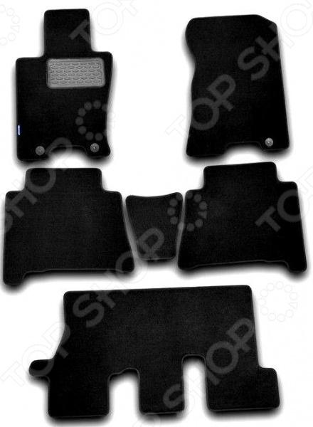 Комплект ковриков в салон автомобиля Novline-Autofamily Chevrolet Orlando 2011. Цвет: черный