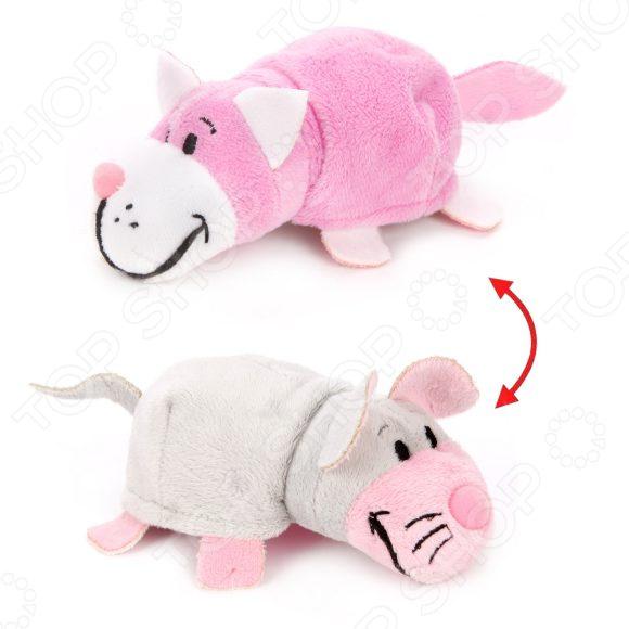 Фото - Мягкая игрушка 1 Toy «Вывернушка 2в1: Розовый кот-Мышь» мягкая игрушка 1 toy вывернушка 2в1 розовый кот мышка