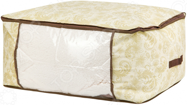 Кофр для хранения одеял и пледов EL Casa «Бежевый узор» кофр для хранения одеял и пледов el casa звезды цвет розовый 80 х 60 х 25 см