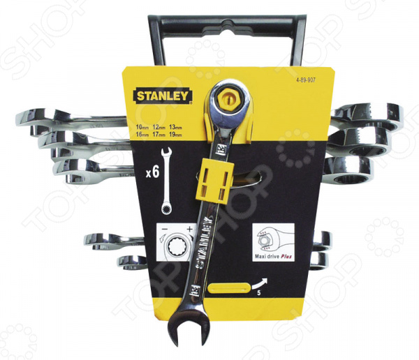 Набор ключей с храповым механизмом STANLEY Maxi Drive 4-89-907 Stanley - артикул: 259103
