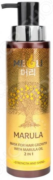 Маска для усиления роста волос Meoli «Сила и блеск» with Marula Oil 2 in 1