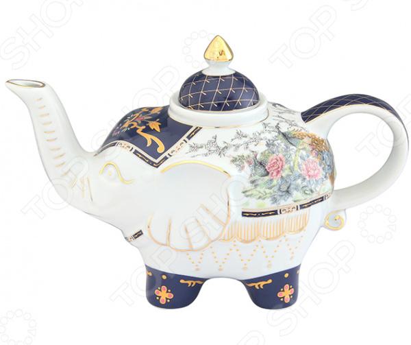Чайник заварочный Elan Gallery «Слон: Павлин на золоте»