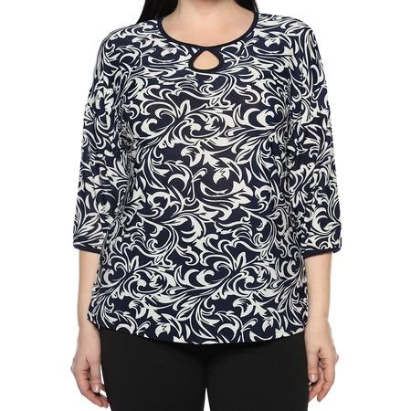 Купить Блуза El Fa Mei «Искрометный танец». Цвет: темно-синий