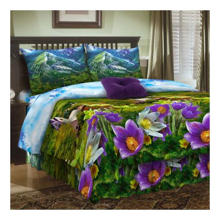 Купить Комплект постельного белья Диана «Альпийский луг». Семейный