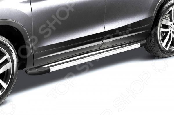 Комплект защиты штатных порогов Arbori Luxe 1700 для Mitsubishi ASX, 2014 комплект защиты штатных порогов arbori standart silver 1700 для mitsubishi asx 2014